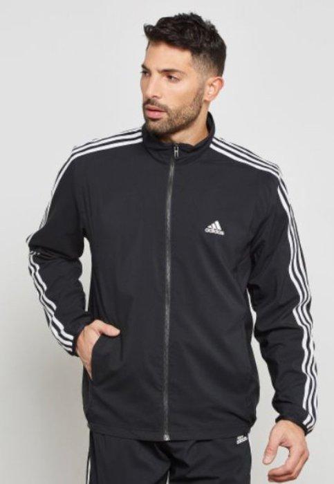 ADIDAS 黑色 立領運動外套 (L)  (一元起標 無底價)