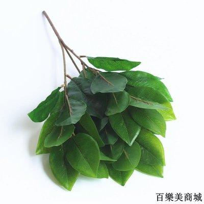 三件起出貨唷 新品仿真植物綠植盆栽插花材料隔斷裝飾樹葉單支50cm玉蘭葉變色葉全店免運中