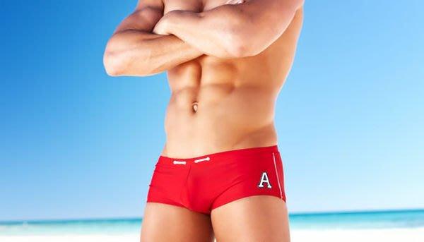 特賣出清原價380【ZS-206】MAN AWARE 超舒適簡約風小平角泳褲 M L XL 號
