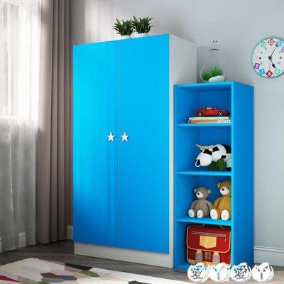 衣櫃 現代簡約衣櫃2門衣櫃臥室兒童衣櫃實木寶寶收納板式組裝衣櫥粉 新品