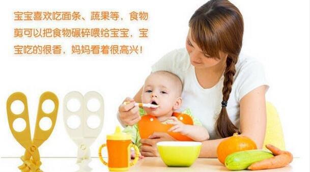 多功能嬰兒食物剪刀隨機出貨