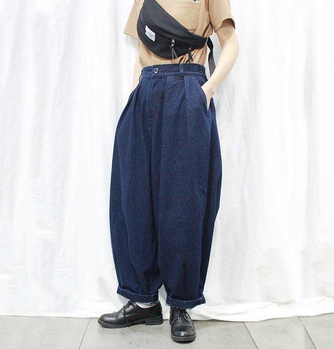 SEYES  {日本空運} 必備自然風基本款顯瘦超寬鬆哈倫牛仔長褲(男女皆可)