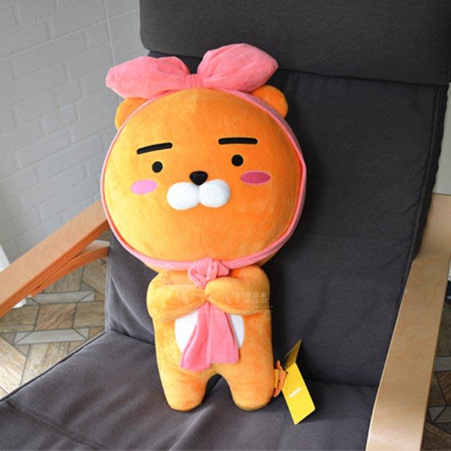 【FAT CAT HOUSE胖貓屋】韓國kakao friends蝴蝶結萊恩Ryan玩偶公仔 抱枕娃娃 BTS防彈少年團