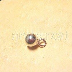 琥珀貓銀飾DIY【925純銀材料配件】墜飾~A0880~銀球~5mm~一個