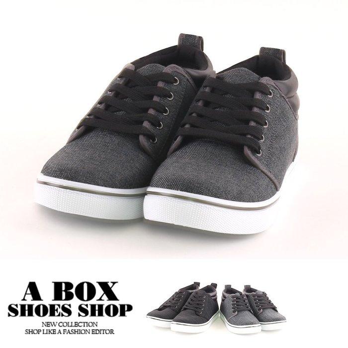 格子舖*【AJ18090】男鞋(39-44) 2.5CM休閒鞋 百搭布面低筒舒適運動布鞋 MIT台灣製 2色
