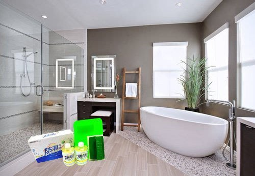 浴室地板防滑《防滑大師》浴室磁磚地面防滑劑組(浴室止滑劑)