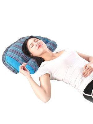 頸椎按摩枕頭黃豆枕大豆枕頭蕎麥殼頸枕圓柱枕男女護頸枕頭頸椎病