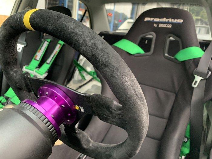 ☆光速改裝精品☆5cm鋁合金方向盤墊高座 墊高 附螺絲工具 紫色