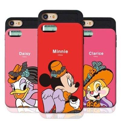 Disney 迪士尼 萬聖節 防摔滑蓋卡夾 手機殼│iPhone 6 6S 7 8 Plus│z8102