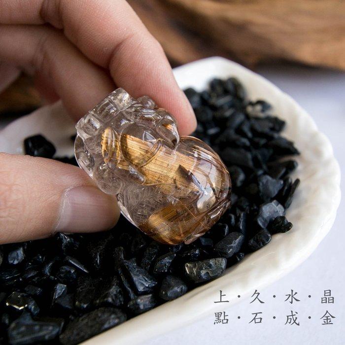 『上久水晶』_頂級銅鈦晶貔貅吊墜/擺件__40*26.5*22mm