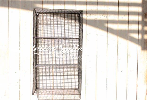 [ Atelier Smile ] 鄉村雜貨 LOFT 美式復古鐵線 壁掛置物架 大型壁掛架 鐵籃 (限量)