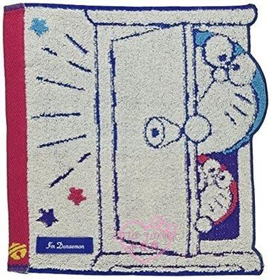 ♥小花花日本精品♥哆啦a夢 純棉小方巾 手帕 小毛巾~3