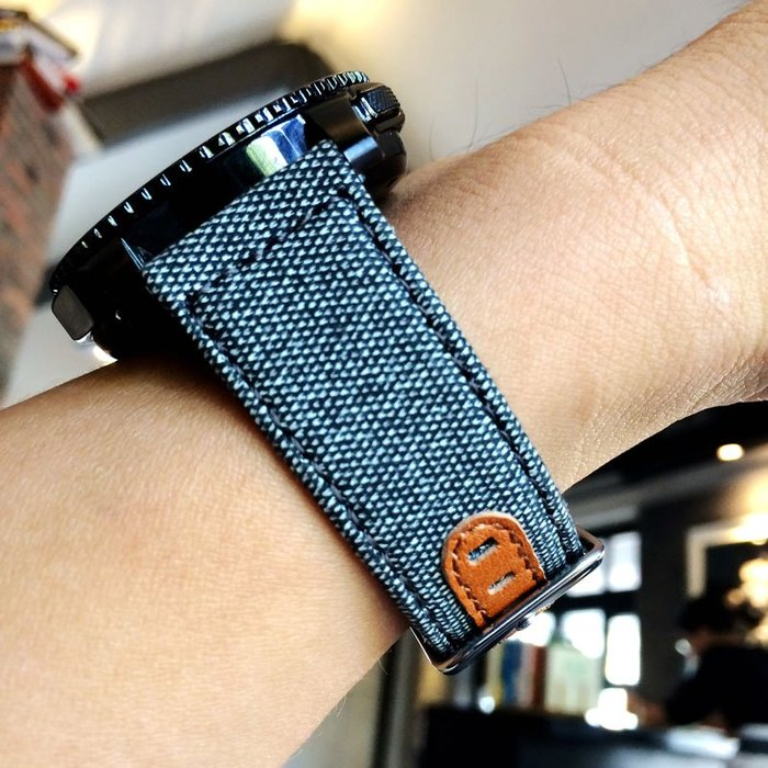 華為 榮耀 Magic Dream 錶帶 快拆帆布 真皮錶帶 22MM 智能手錶帶 替換腕帶 透氣帆布 運動型手錶帶