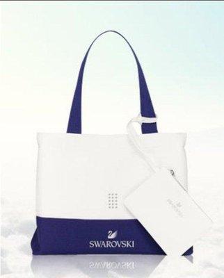 SWAROVSKI 施華洛世奇 海灘  手拿包 美妝包 購物袋