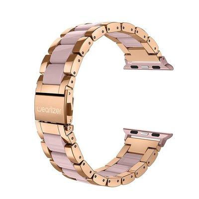 美國【Wearlizer】iwatch錶帶apple watch 4/5/6代智能手錶金屬錶帶蘋果SE不銹鋼錶帶44mm