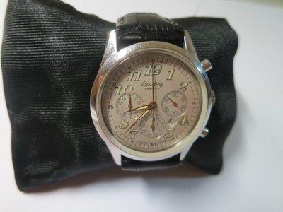 Breitling 百年靈 自動上鍊三眼計時機械錶