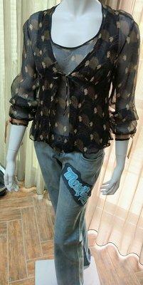 ¤ 就是愛買 ¤ SPORTMAX 義大利製二件式 雙層圖騰上衣