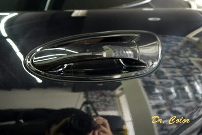 Dr. Color 玩色專業汽車包膜 Porsche Panamera 細紋自體修復透明犀牛皮_門碗