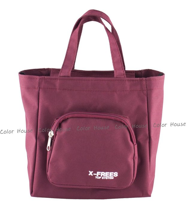 § Color House § X-FREES 便當袋 手提袋 餐袋  紅色下標區!