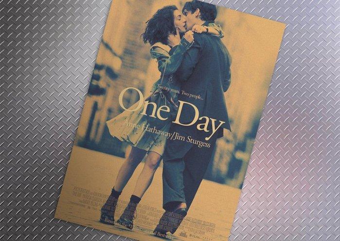 【貼貼屋】One Day真愛挑日子 安海瑟薇 懷舊復古 牛皮紙海報 壁貼 店面裝飾 電影海報 378