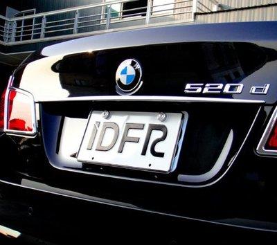 IDFR ODE 汽車精品BMW 5 F10 10-UP  鍍鉻後箱飾條