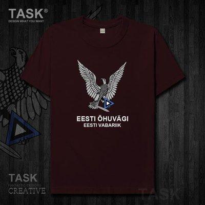 TASK 愛沙尼亞Estonia空軍純棉短袖T恤男女國家軍裝保衛部隊衣服夏