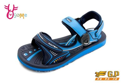 GP涼鞋 大童 磁扣兩穿休閒防水涼鞋 I6662#藍色OSOME奧森童鞋