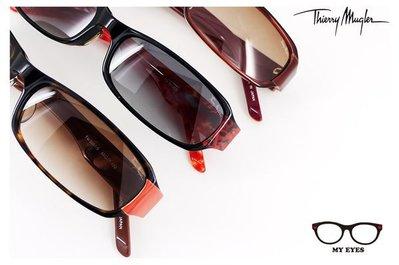 【My Eyes 瞳言瞳語】法國時尚老品牌Thierry Mugler小框太陽眼鏡 三色可選