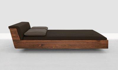 Moon の Wood Design _近原裝 複刻 ZEITRAUM FUSION 漂浮床 現代 簡約 工業風 床架