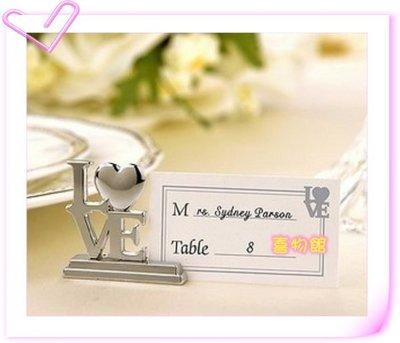 桌卡夾 婚禮小物 席位夾 名片夾 席位座 歐美婚禮小物 金莎棒 夫妻筆 綿花糖 love