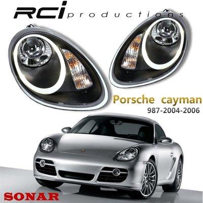 RC HID LED專賣店 保時捷 PORSCHE CAYMAN 987 類 991導光式樣 大燈組 原廠HID對應