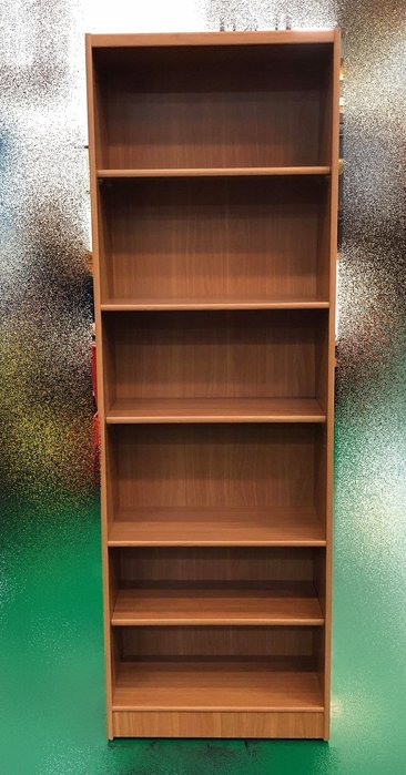 台中二手傢俱賣場 推薦 大里宏品全新中古家具家電 EA12261AB*全新木紋書櫃 書架 展示櫃 高低櫃*台北新竹南投
