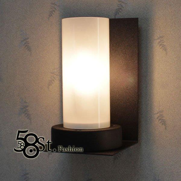 【58街】義大利設計師款式「夜半燭台 壁燈_白玻璃款式」高檔質感款式,複刻版。GK-313