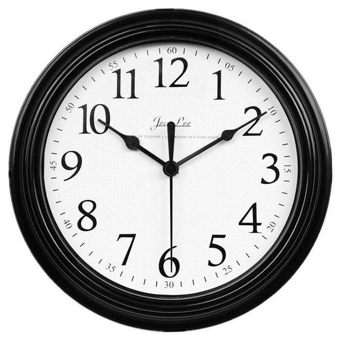 現代簡約鐘錶掛鐘客廳臥室家用圓形電池數字時鐘掛錶壁鐘HD