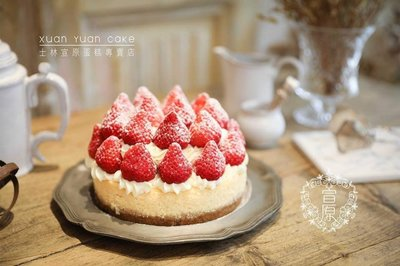 士林宣原蛋糕,6吋雙層草莓重乳酪.6吋雙層草莓古典巧克力蛋糕.