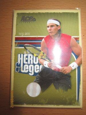 網拍讀賣~Rafael Nadal~傳奇球星~美網冠軍~球王~納達爾~限量球衣卡/500~普特卡~共1張~1500元~
