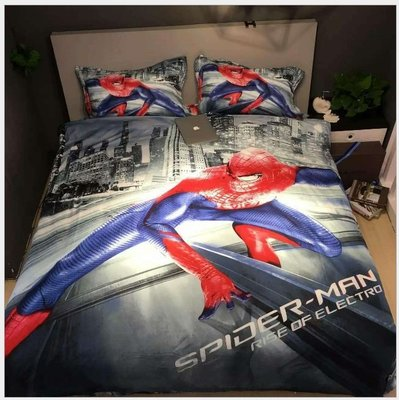 暖暖本舖 可訂製自己喜愛的照片為床包 單人雙人棉被套床罩枕頭套床包組 皮卡丘 星空床 神奇寶貝 卡比獸 美國隊長 蜘蛛人
