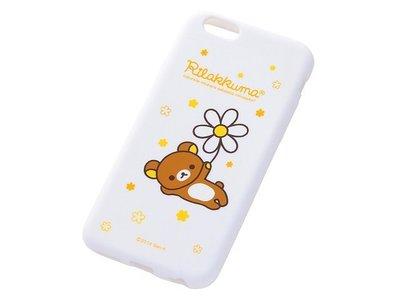 尼德斯Nydus~* 日本正版 San-X 拉拉熊  懶懶熊 矽膠 軟殼 手機殼 白色小花款 4.7吋 iPhone6