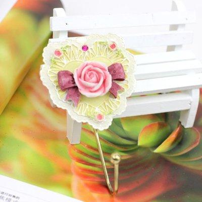 粉紅玫瑰 屋~歐式鐵藝手繪玫瑰掛勾~