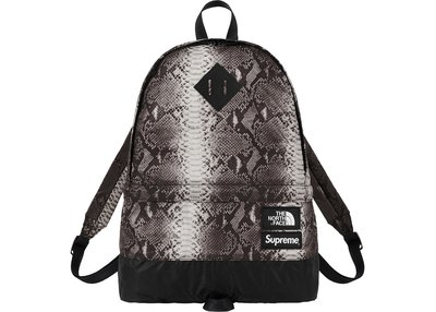 「Rush Kingdom」SUPREME X The North Face snakeskin 蛇紋 背包 SS18