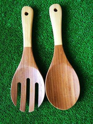 竹藝坊-竹製飯杓/飯叉/大型沙拉叉/壽司飯匙/木飯匙/飯匙