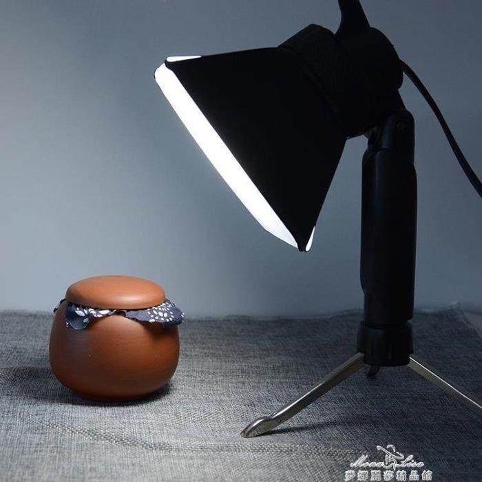 拍照小型攝影燈美食珠寶首飾品拍攝燈主播自拍手機直播補光燈 全館免運