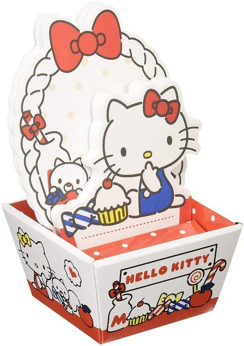 X射線【C233528】Hello Kitty 造型便條紙附盒,便條紙/信封/信紙/信套紙/卡片紙/收納盒/筆記本/便利