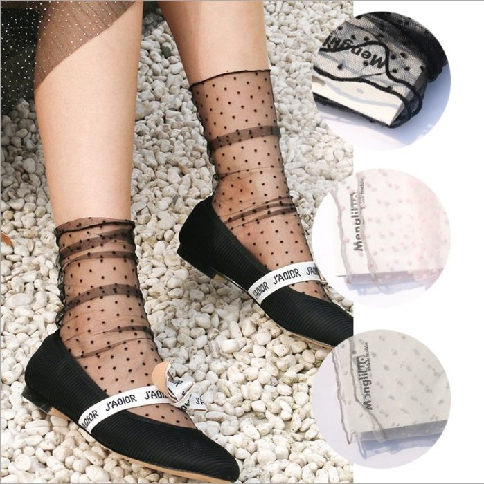 *╮S.water shop╭* 植絨點點 網襪堆堆襪仙女襪涼鞋襪 FN#00289-12 共4色 (現貨)