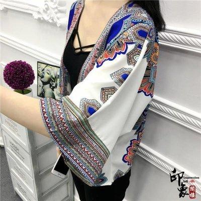 哆啦本鋪 度假民族風流蘇露臍和服開衫防曬衣女寬鬆空調衫 D655