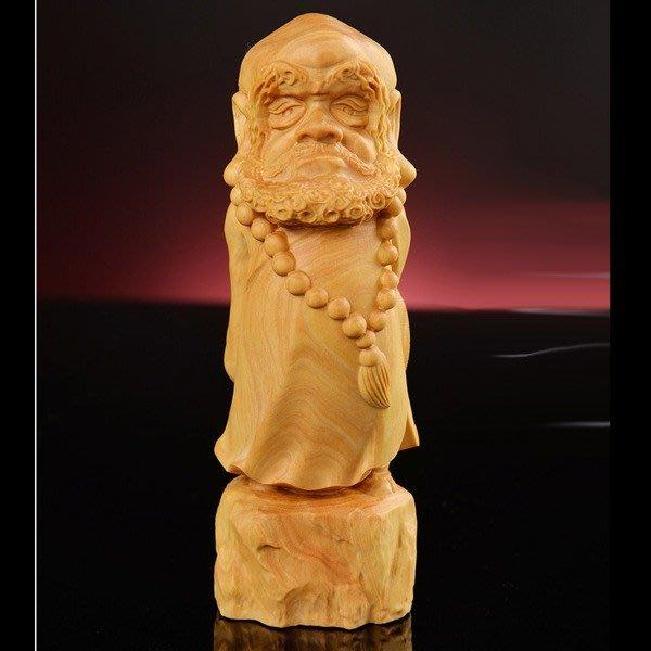 5Cgo【茗道】含稅會員有優惠  528133836643 黃楊木雕招財家居裝飾手把件擺件創意實木文玩工藝禮品收藏達摩Q