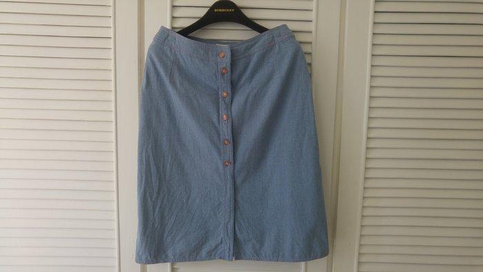 【ESCADA】 天空藍丹寧短裙
