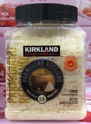 美兒小舖COSTCO好市多代購~KIRKLAND 帕瑪森蘿吉諾乾酪絲 (454g/罐)