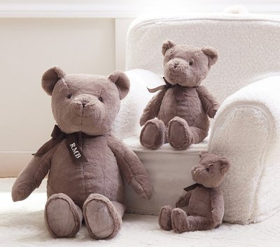 預購 美國嬰幼兒精品 Pottery Barn Baby 全品項代購 可愛咖啡小熊 Bear Plush 小款 生日禮