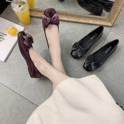 丫 丫 Sweety大尺碼女鞋555 ☆甜美方頭蝴蝶結娃娃鞋☆ 35-44 (缺碼預購7-14天)
